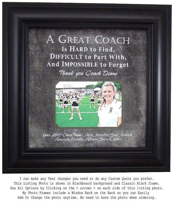 Personalized Photo Frames Handmade Weddings Anniversaries Custom Made For Any Occasion By Www Photofr Cheerleading Coach Gifts Cheer Coach Gifts Coach Gifts