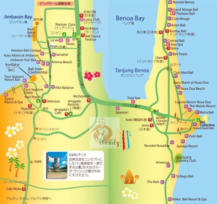 ジンバラン・ヌサドゥア地区の地図