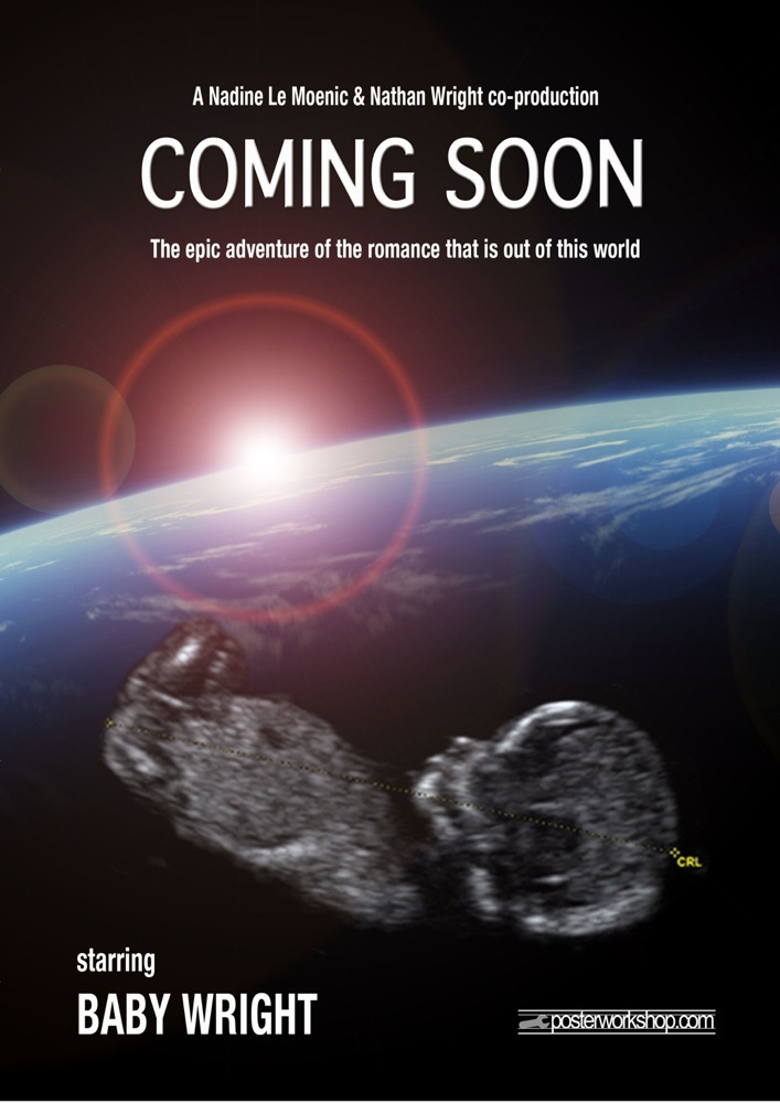 """Coming Soon"" Ultrasound Movie Poster   Gifts  From $45.00"