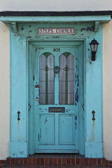 Robin's egg blue door #101 in Aldeburgh, Suffolk, England~ DOOR COLOR <3<3