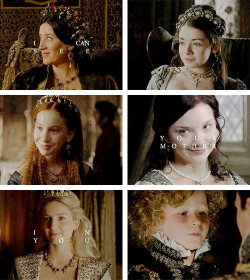 Katherine of Aragon / Mother of Mary I of England Anne Boleyn / Mother of Elizabeth I of England Jane Seymour / Mother of Edward VI of England #tudors