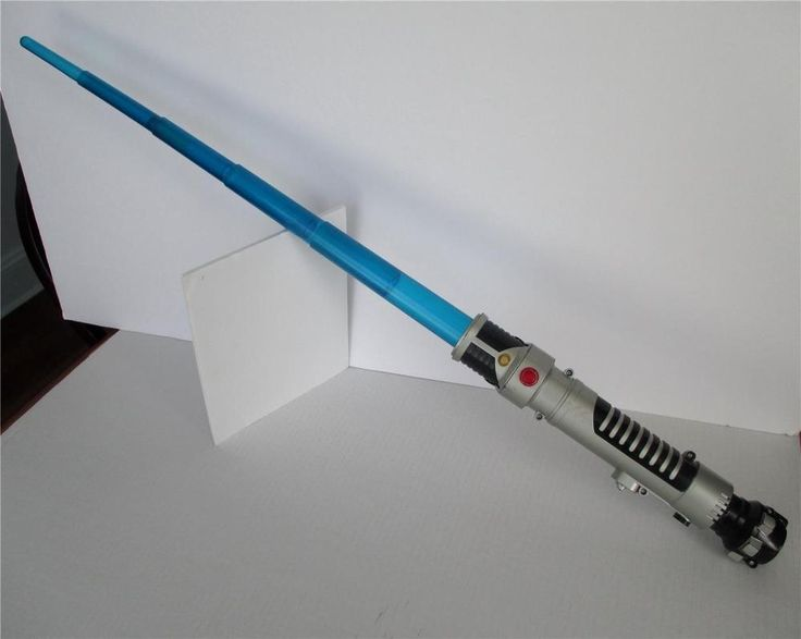 Hasbro Lightsaber Luke Anakin Blue Spring Loaded 2006 Lights & Sounds TESTED