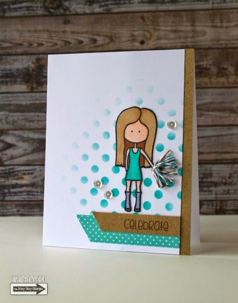 Tracy Mae Design: Celebrate || The Alley Way Stamps, Far Out, More Than Words, card, TAWS, clear stamps, stamping
