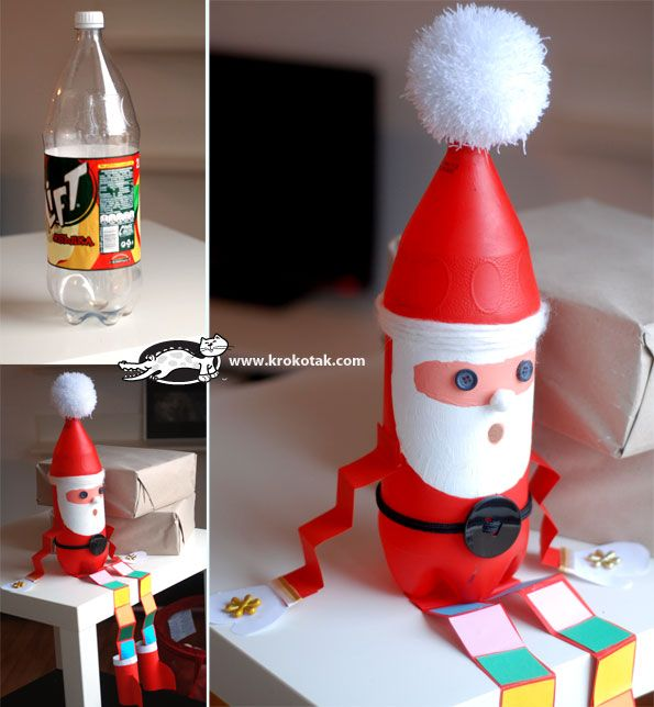 115 best soda bottle crafts images on pinterest for Recycled christmas decorations using bottles