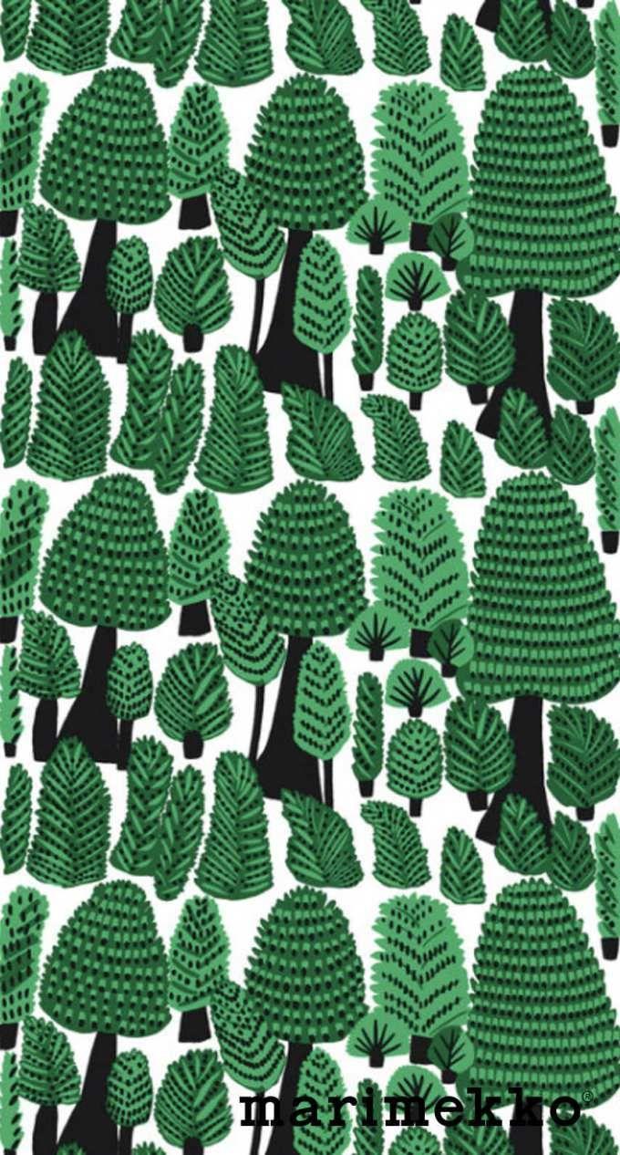 マリメッコ/ネイチャーパターン17 iPhone壁紙 Wallpaper Backgrounds iPhone6/6S and Plus Marimekko Nature Pattern iPhone Wallpaper