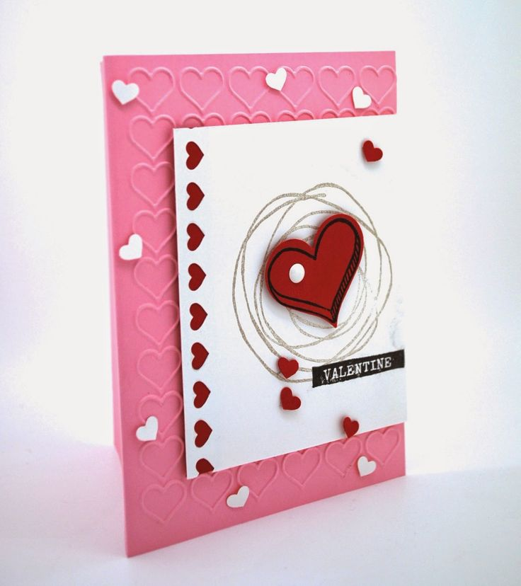 A Valentine's card with Snuggles and Smooches photopolymer stamp set and the  Happy Heart Embossing Folder. #hearts, #valentines, #sale-a-brationcatalog, #occasionscatalog, #embossing