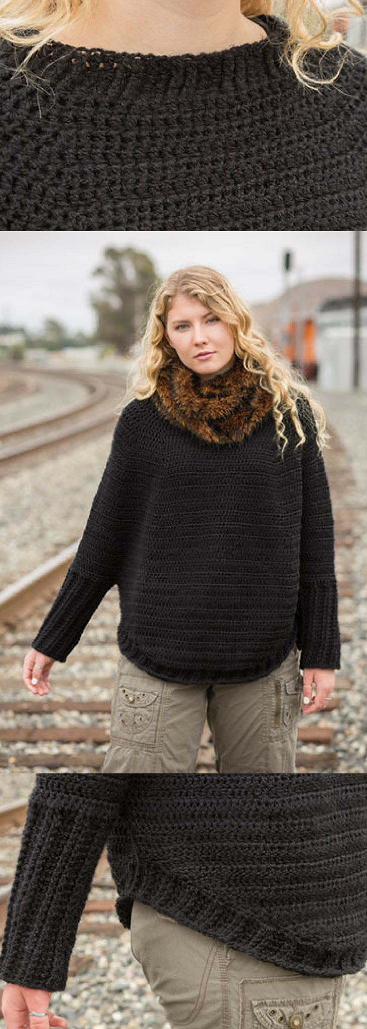 Take Me Places Sweater Crochet Pattern - Padrões - Projetos - Para Mulheres - ...