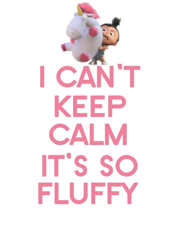 I can't keep calm! It's so fluffy!!! #despicable_me #its_so_fluffy #agnes