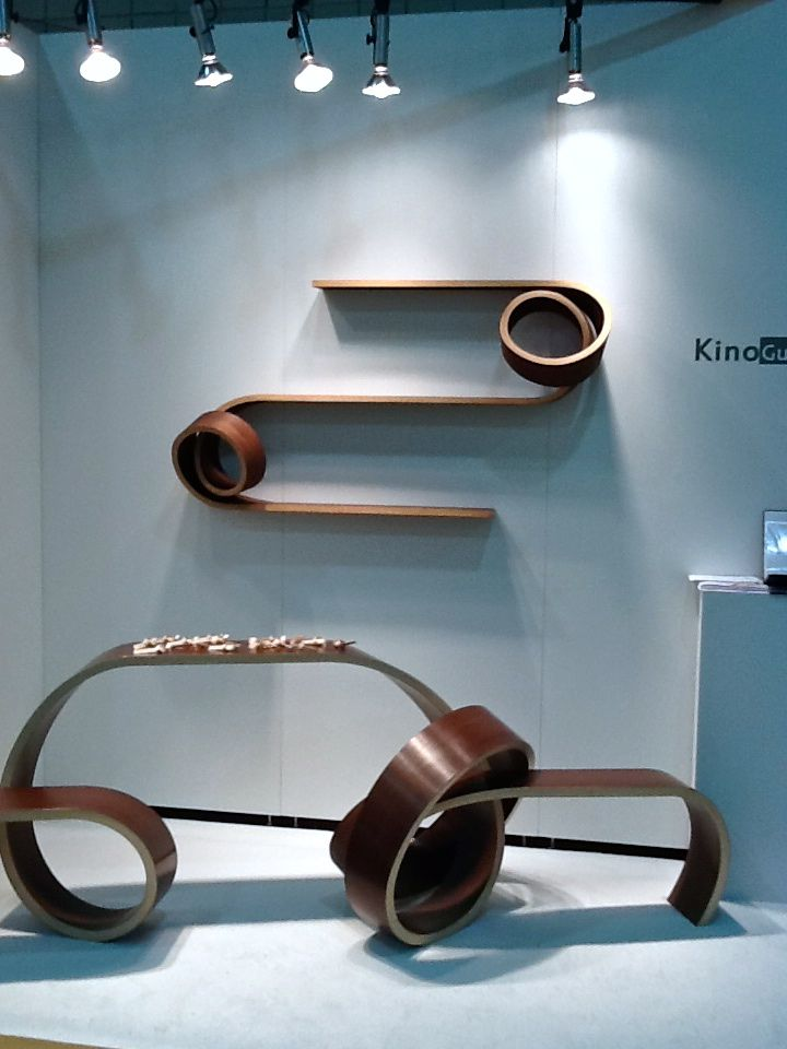 Kino Guerin bends wood into furniture to be sensuality for the home. Homes are full of lines, this is a great way to inject some curves.
