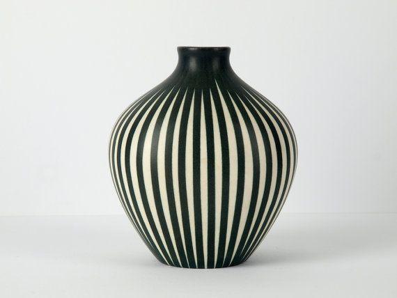 """Art Deco Porcelain Vase """"Lilo"""", Design Maria Kohler for Villeroy & Boch"""