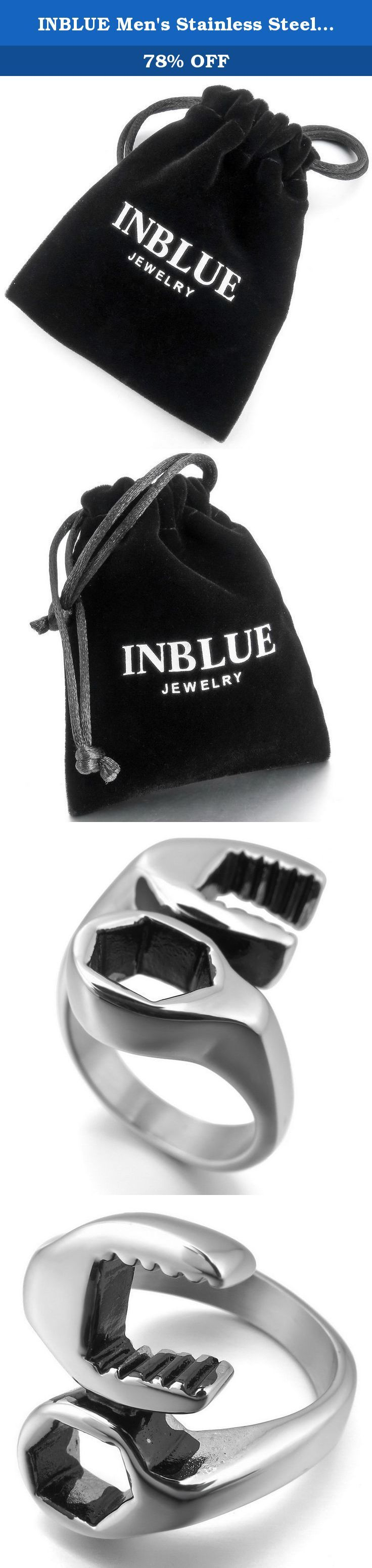 INBLUE Men's Stainless Steel Ring Silver Tone Spanner Mechanic Wrench Tool Size10. INBLUE - High quality Jewelry Discover the INBLUE Collection of jewelry. The selection of high-quality jewelry featured in the INBLUE Collection offers Great values at affordable Price, they mainly made of high quality Stainless Steel, Tungsten, Silver and Leather. Find a special gift for a loved one or a beautiful piece that complements your personal style with jewelry from the INBLUE Collection. .
