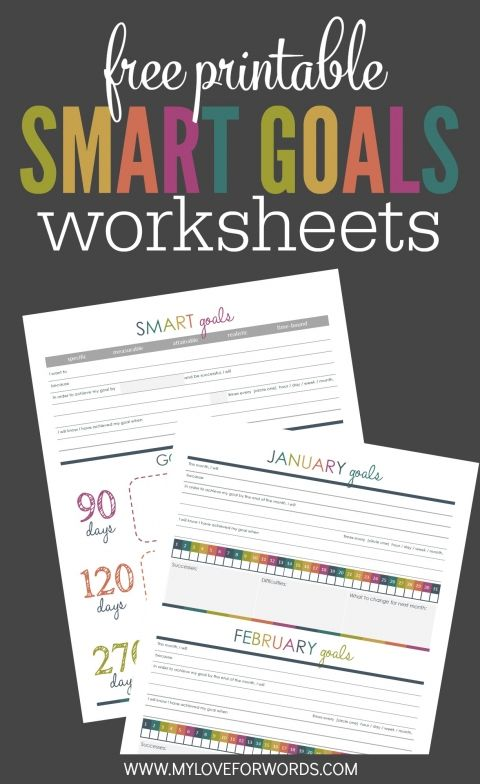 TOL Smart goals worksheets image 1