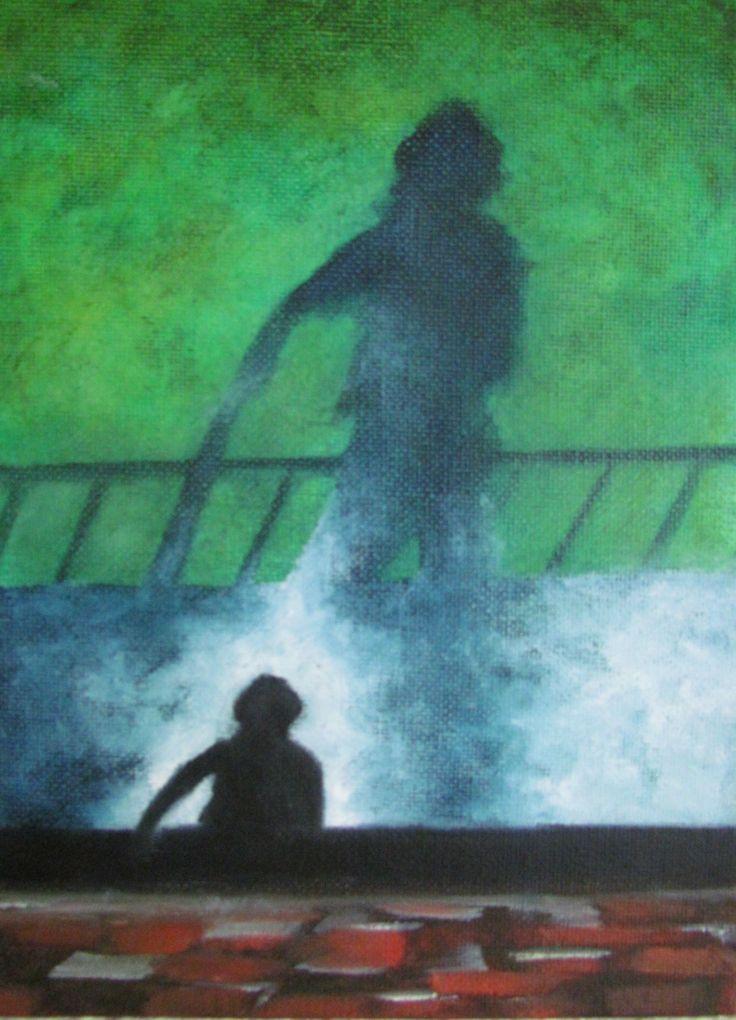 Oil on canvas board by Kare Grayson MFA.