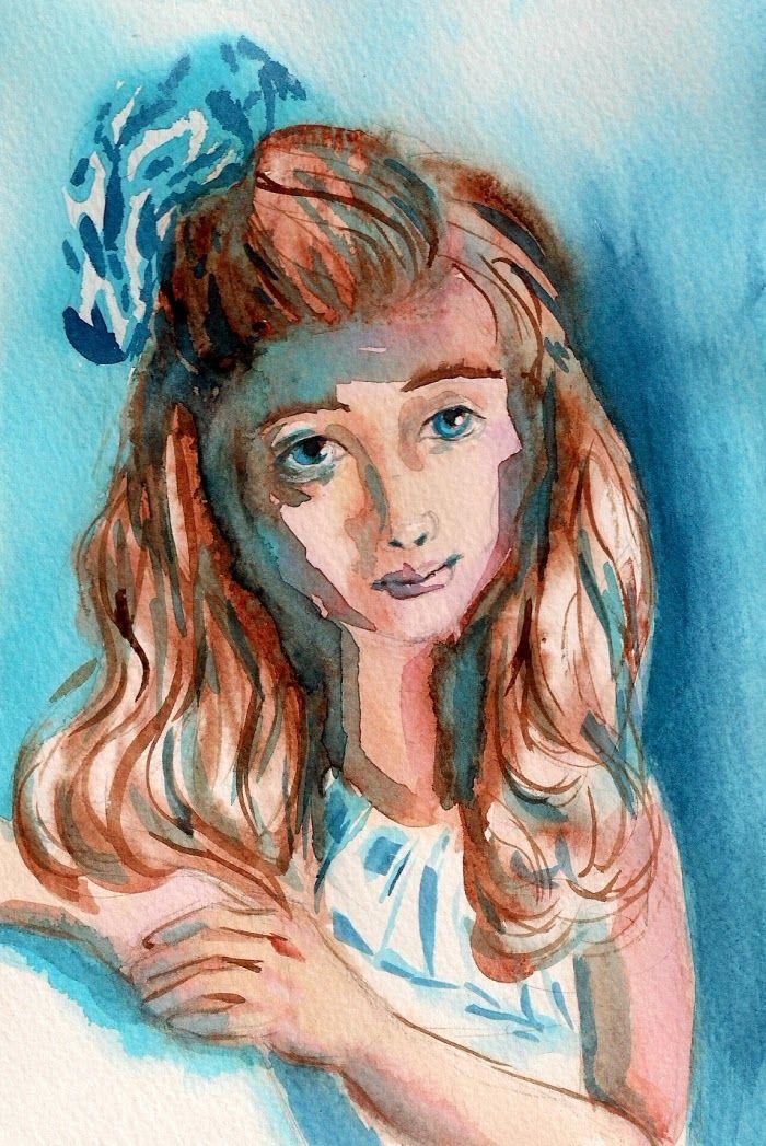 akwarela portret