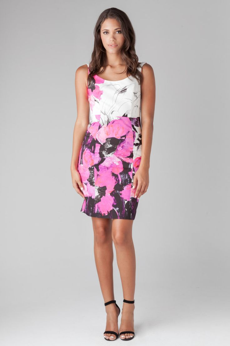 Winter Orchid Sophia Dress in White & Purple by MILLY at TAGS ...