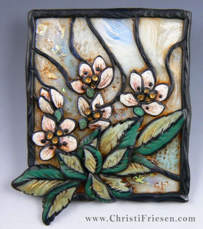 """Purity"" #christiFriesen #polymer in stained glass style. http://www.christifriesenart.com/"