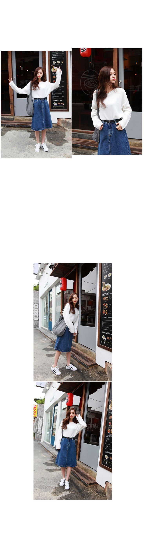 ウォッシングAラインデニムスカート - 激安カジュアルファッション通販《GOGOSING》♥安カワな人気レディースファッションが続々入荷中!!