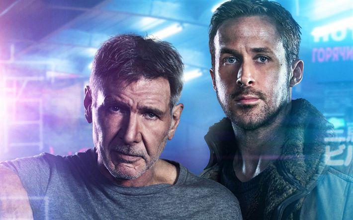 Hämta bilder Blade Runner 2049, 2017, Harrison Ford, Ryan Gosling, affisch, nya filmer