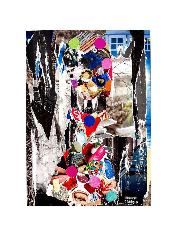 Doll Stuff ✂️29,5x42cm Analog collage by Mihaela Nastase