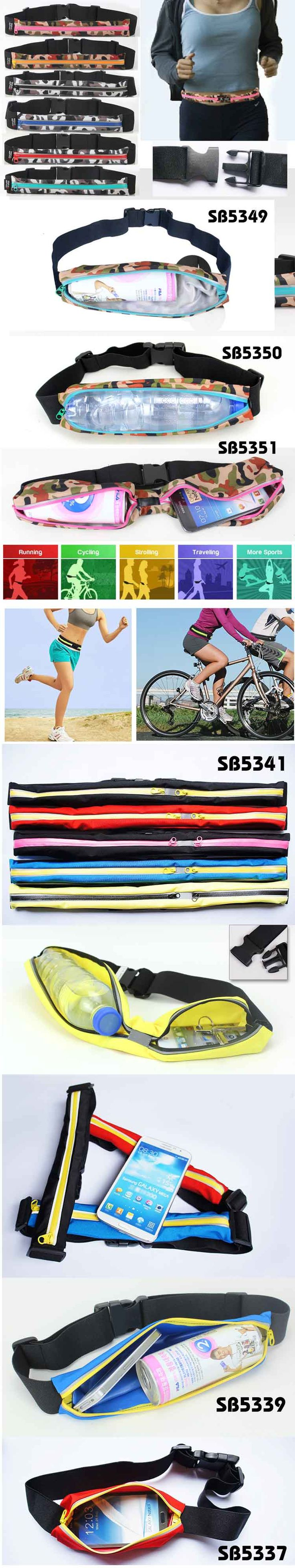 Adjustable elastic colorful durable waist bag series in different size and different  colors   Description: with two zipper pocket design It can hold mobile phones, keys and other small personal items. Made of high flexible polyester material, durable and comfortable Ideal for you to carry key/phone/cash when jogging, hiking or just out being active, must-Have item for sport enthusiast.   www.ideagroupigm.com