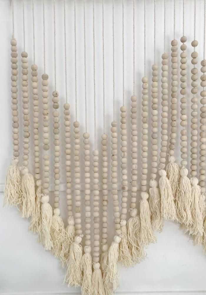 Cabo Gypsy Beaded Wall Hanging Wooden Beads Pallet Wall Hangings