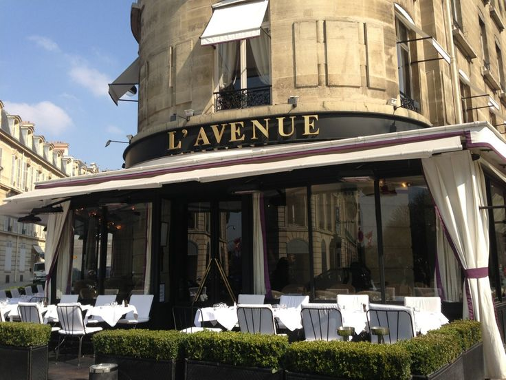 L'Avenue.  right bank is always fun for lunch and people watching on Ave Montaigne (walk the shops on Ave Montaigne then stop for lunch - Ave Montaigne is like Rodeo Drive).