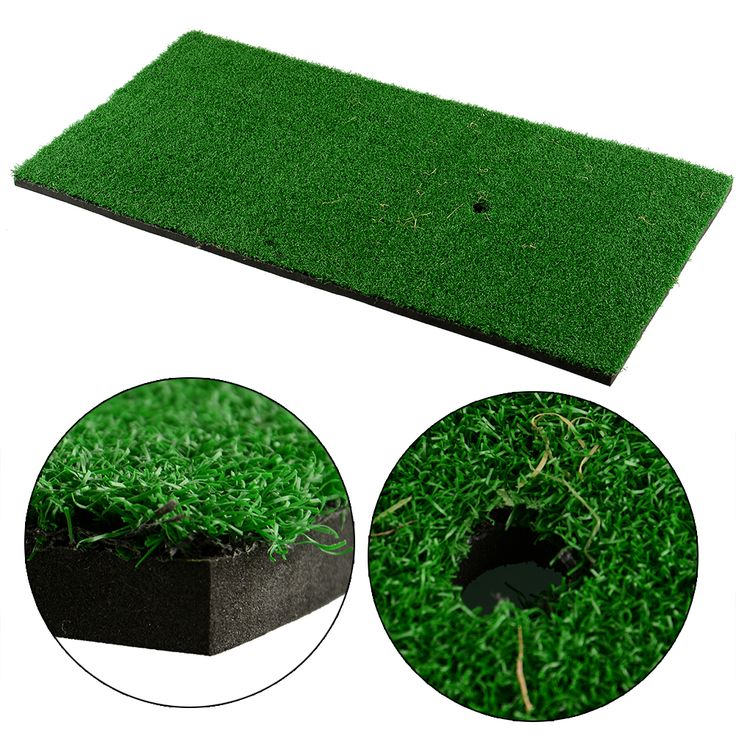 "60x30cm/12""x24""Backyard Golf Mat Residential Training Hitting Pad Practice Rubber Tee Holder Drop Shipping"