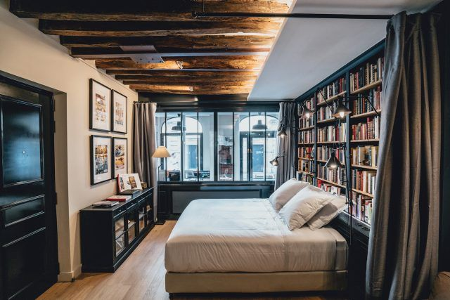 Traveling in Europe but no books to read? Why not stay a night at a library in Paris