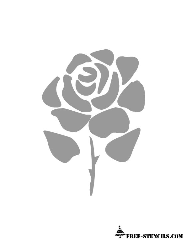 free printable rose stencil cricut projects Stencils, Rose