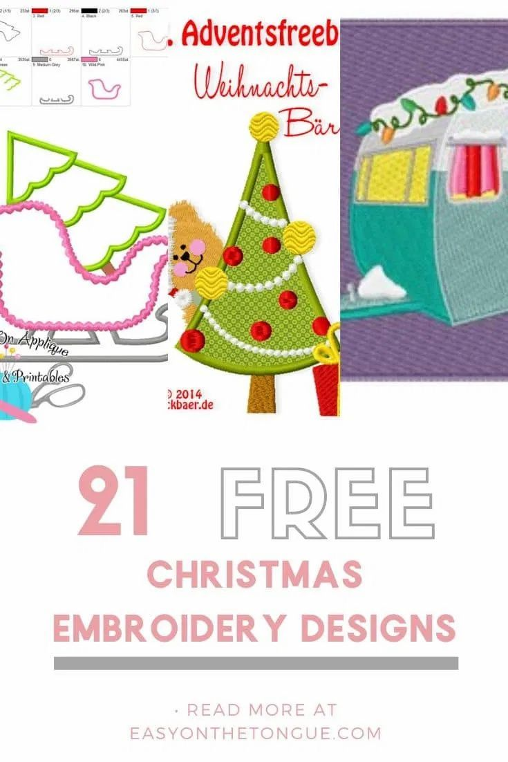 Christmas Around The Corner 2020 Free Christmas Embroidery designs in 2020   Christmas embroidery