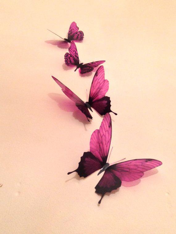 4 Luxury Amazing in Flight Burgundy by MyButterflyLove on Etsy, $12.50