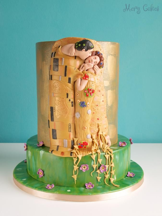"""The Kiss"" wedding cake"