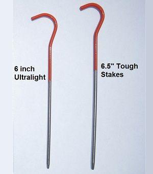 ZPacks.com Ultralight Backpacking Gear - Vargo 6 inch Titanium Stakes