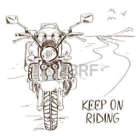 Bildergebnis zum einfachen Zeichnen eines Motorrades