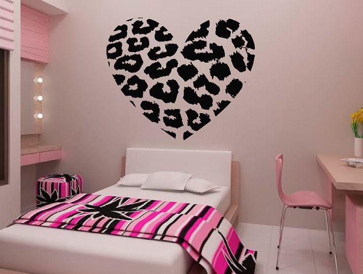 Ordinaire Leopard Spot Heart Vinyl Wall Decal Sticker Leopard Print