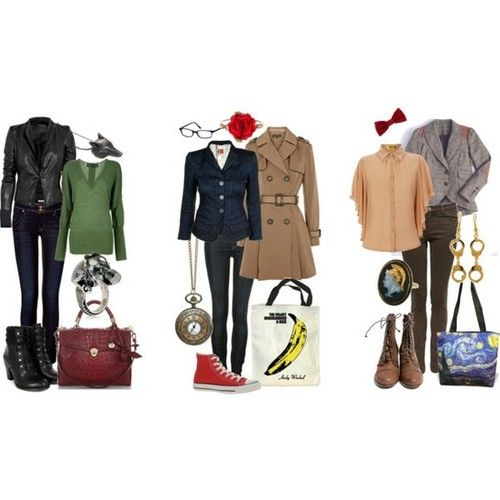 Doctor Who - Outfits for the 9th Doctor, 10th Doctor, and 11th Doctor
