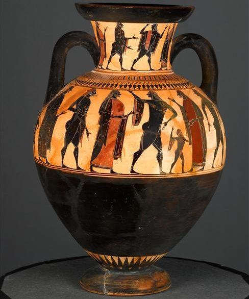 Affecter (fl. c. 550 - 530/520 BCE), Musee du Louvre, Paris F 20 (543/542-525 BCE). Black-figure neck-amphora. Side B.