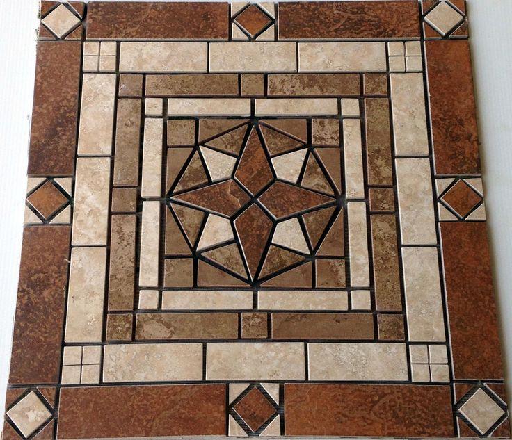 24 Quot Mosaic Tile Medallion Design Marble Ceramic Floor Wall