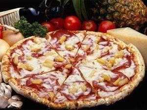 Receta de Pizza tropical