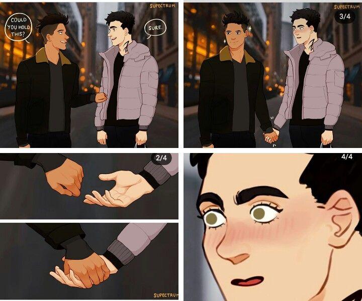 Malec Fan Art Holding Hands