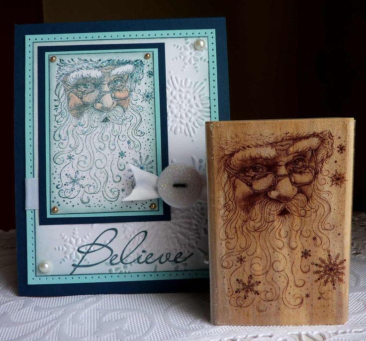 Rubber Stampede - Santa/Santa Face Collage/winterubber stamp (card not included) #RubberStampede