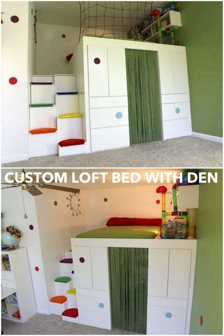 Http Www Ikeahackers Net   Loft Bed With Den Using Akurum Cabinets Html