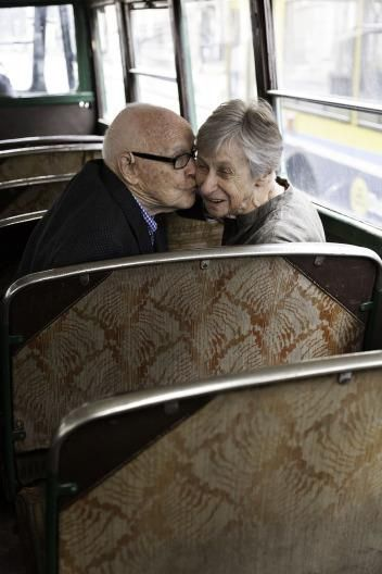 Lovely story ... Norrie & Bill Short celebrate their golden anniversary on the same bus they met on 51 years ago.