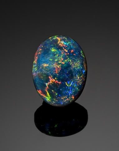 Classic Black Crystal Opal FOR SESSION PAGE