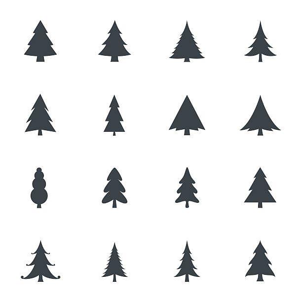 Christmas Tree Icons Tree Icon Christmas Vectors Tree Illustration