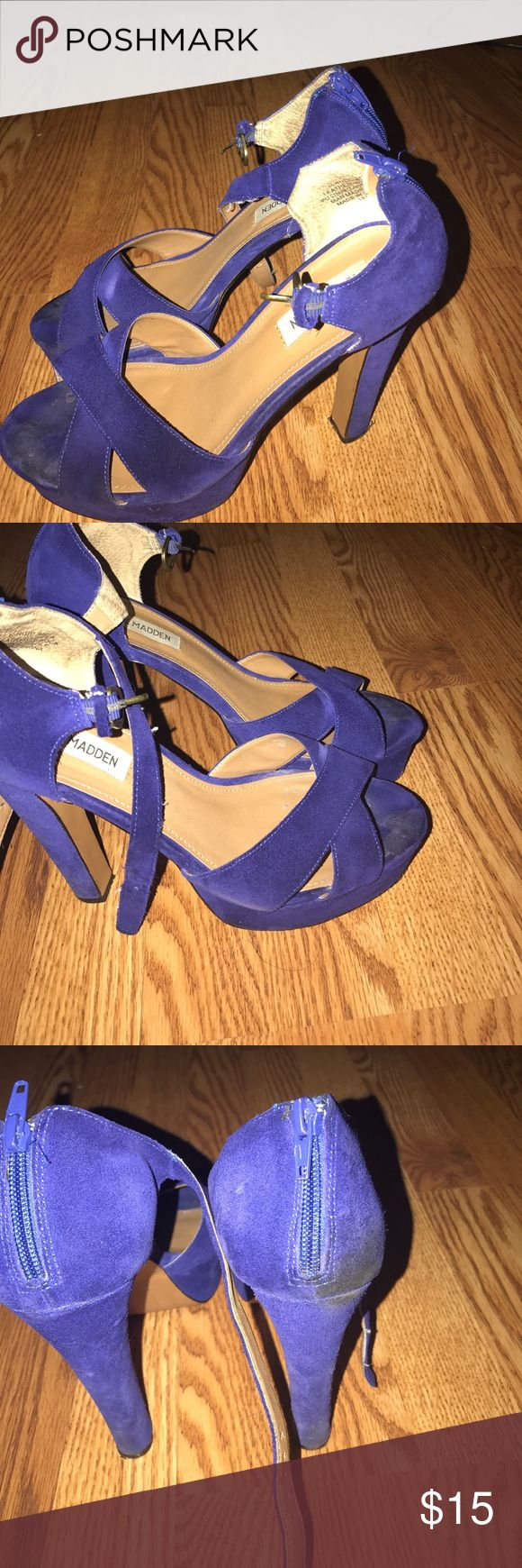 Shoes Sale.   Cobalt Blue Suede Steve Madden shoe 👠. This is must have for the Summer/Spring /Fall Steve Madden Shoes Heels