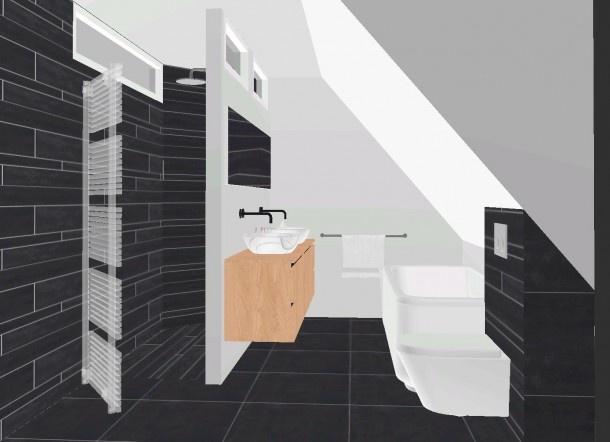 17 beste idee n over kleine badkamer indeling op pinterest kleine badkamers kleine kelder - Tub onder dak ...
