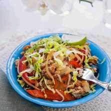 Chicken sweetchili med risnudlar