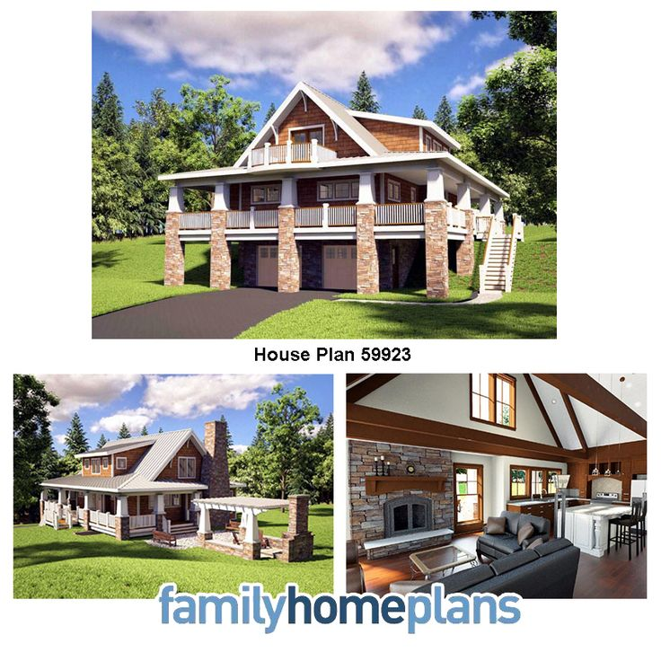 Hillside Plan With Garage Under 69131am: 86 Best Home Plans Blog Images On Pinterest