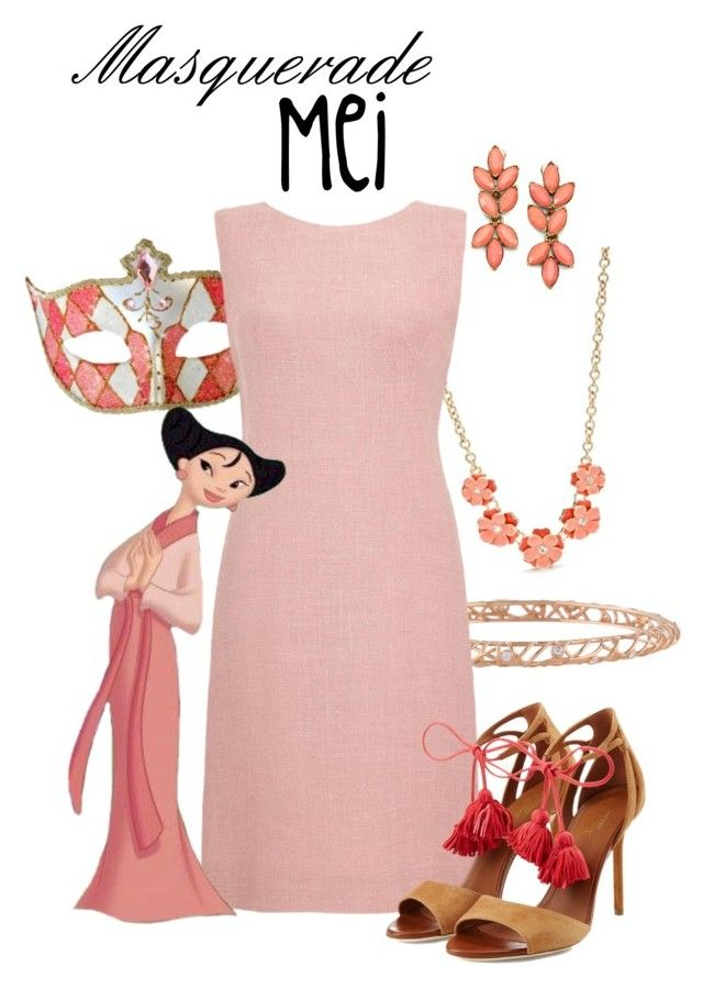 """""""Masquerade: Mei"""" by jivy44 ❤ liked on Polyvore featuring Napier, Hearts on Fire, Masquerade, Malone Souliers and Oscar de la Renta"""
